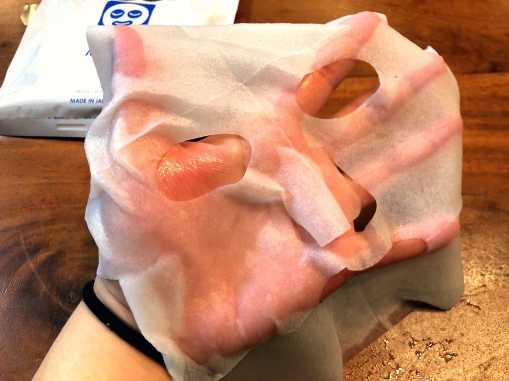 透明白肌のシートマスク使用感