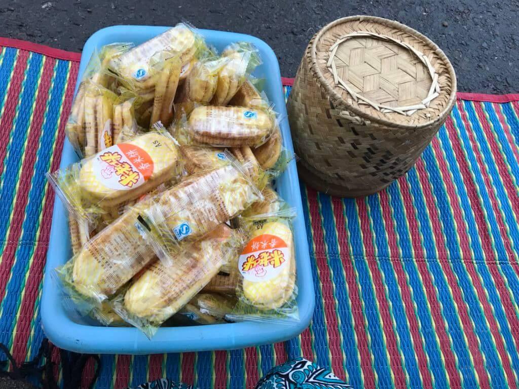 ルアンパバーン托鉢 お米とお菓子セット