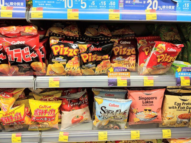 香港のスーパーマーケット スナック菓子